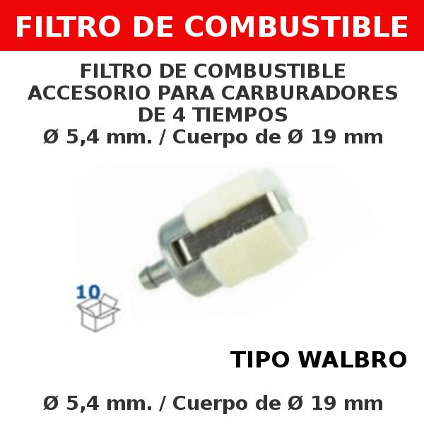0 5,4 mm 19mm Filtro de combustible accesorio para carburadores de 4 tiempos