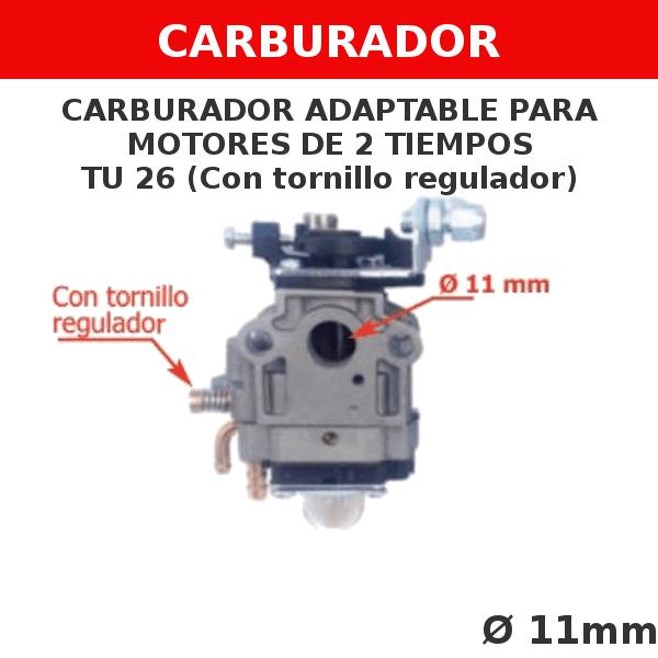 1 TU 26 Carburador adaptable para motores de 2 tiempos