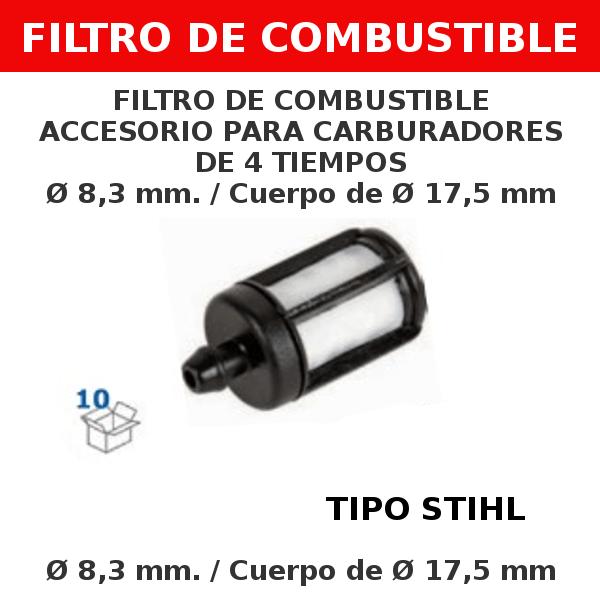 2 8,3 mm 17,5mm Filtro de combustible accesorio para carburadores de 4 tiempos