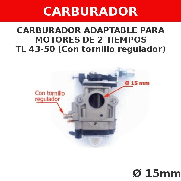 2 TL 43-50 Carburador adaptable para motores de 2 tiempos