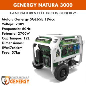 Generador eléctrico Genergy Natura 3000 (gasolina/gas)
