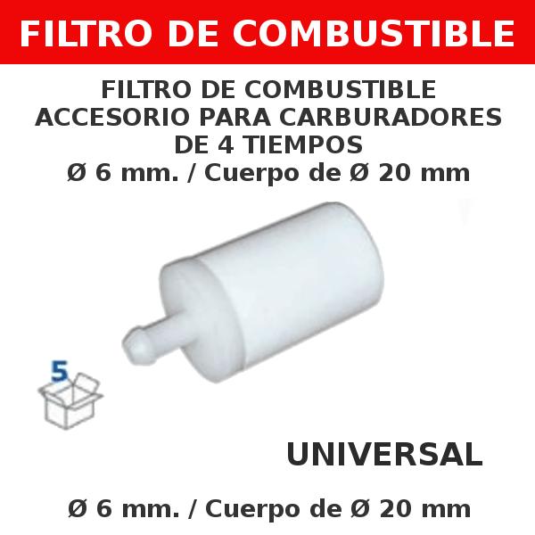 5 6 mm 20 mm Filtro de combustible accesorio para carburadores de 4 tiempos