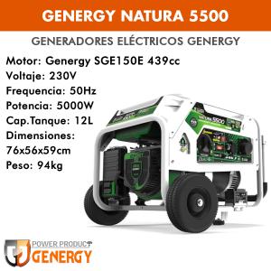 Generador eléctrico Genergy Natura 5500 (gasolina/gas)