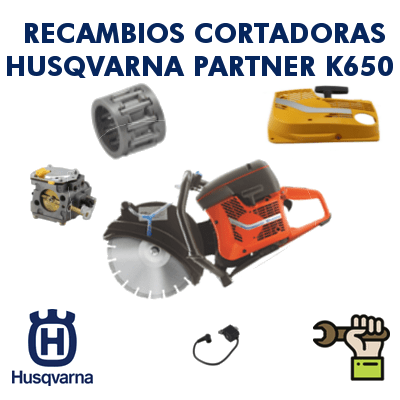 Recambios para cortadoras Partner Husqvarna K650