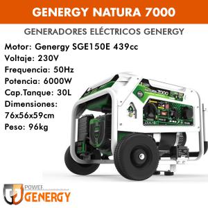 Generador eléctrico Genergy Natura 7000 (gasolina/gas)