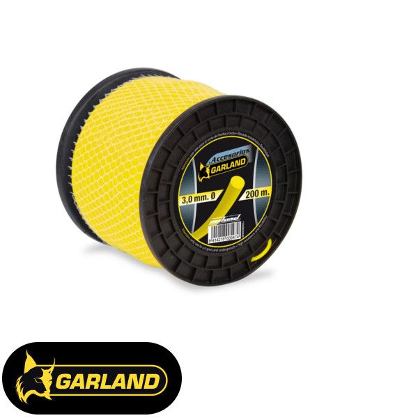 Garland spools and dispensers for brush cutters