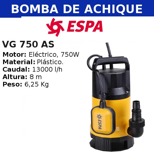 Bomba de Achique VGV 750 AS