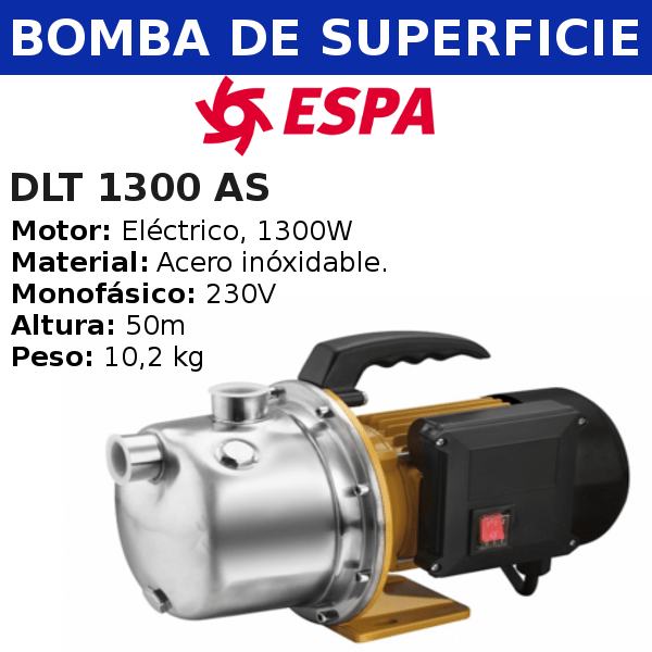 Bomba de agua Espa DLT 1300 AS