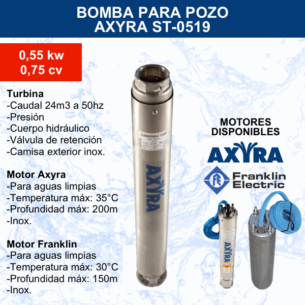 Bomba para pozo Axyra ST-0519