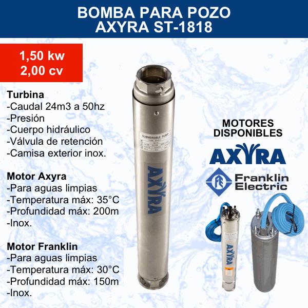 Bomba para pozo Axyra ST-1818