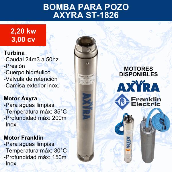 Bomba para pozo Axyra ST-1826