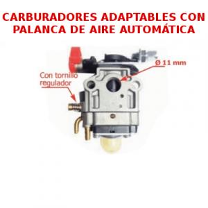 Carburadores con palanca de aire automática para motores de 2 tiempos