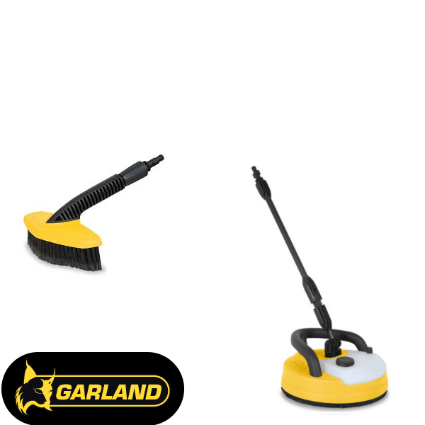 Garland brushes for high pressure washers