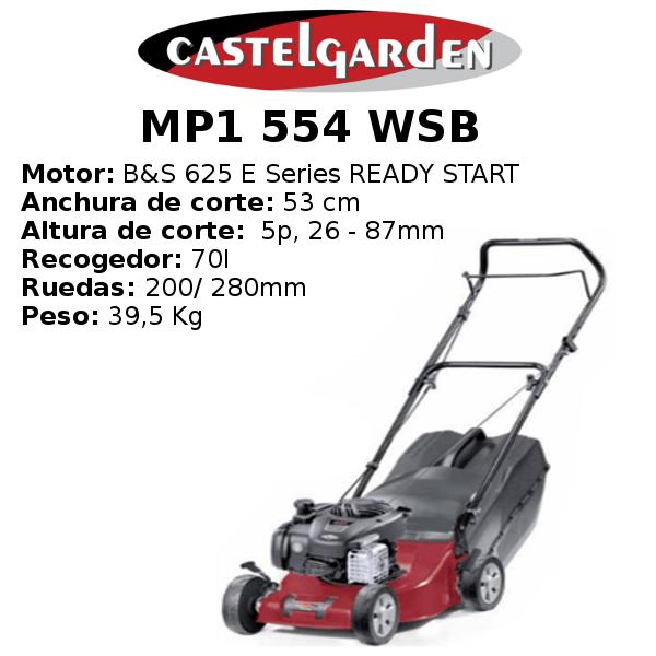 Cortacésped Castelgarden MP1 554 WSB
