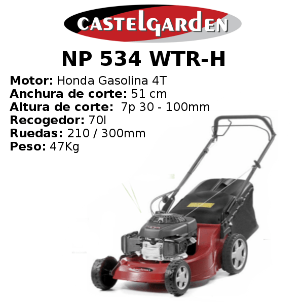 Cortacésped Castelgarden NP 534 WTR-H