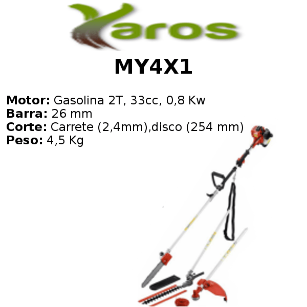 Desbrozadora Multifunción Yaros MY4X1