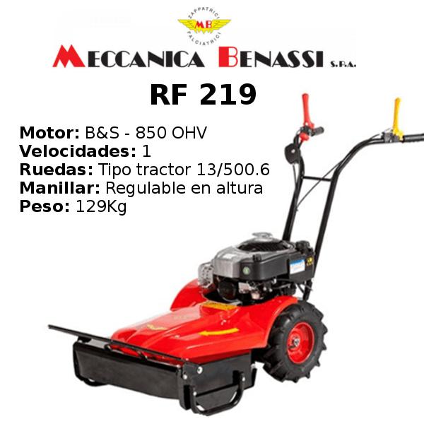 Desbrozadora de Ruedas Meccanica Benassi RF 219