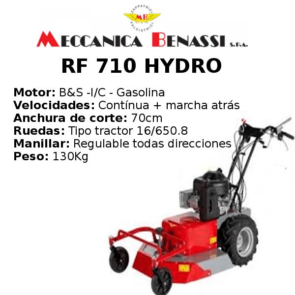 Desbrozadora de Ruedas Meccanica Benassi RF 710 HYDRO