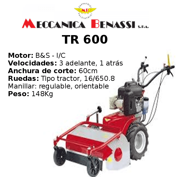 Desbrozadora de Ruedas Meccanica Benassi TR 600