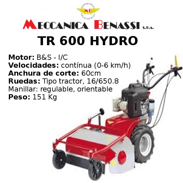 Desbrozadora de Ruedas Meccanica Benassi TR 600 HYDRO