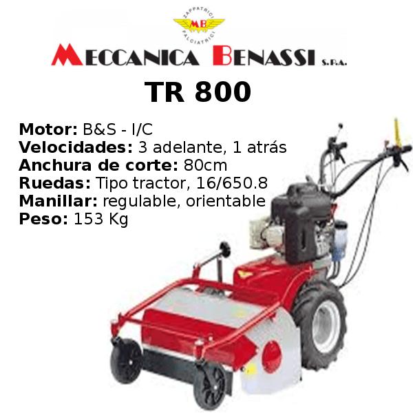 Desbrozadora de Ruedas Meccanica Benassi TR 800