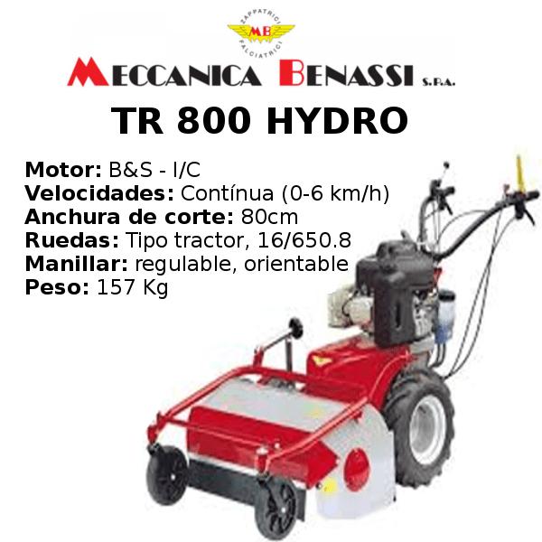 Desbrozadora de Ruedas Meccanica Benassi TR 800 HYDRO