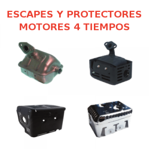 Escapes y Protectores Motores 4 tiempos