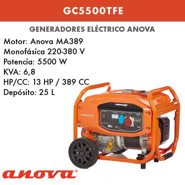 Generador Eléctrico Anova GC5500TFE