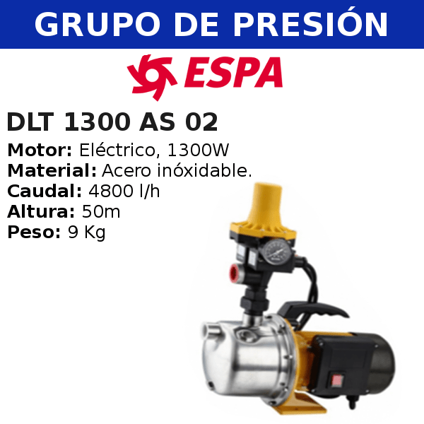 Grupo de Presión DLT 1300 AS 02