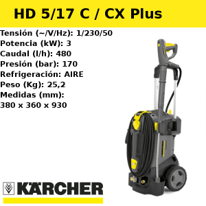 Hidrolimpiadora Karcher HD 5/17 C