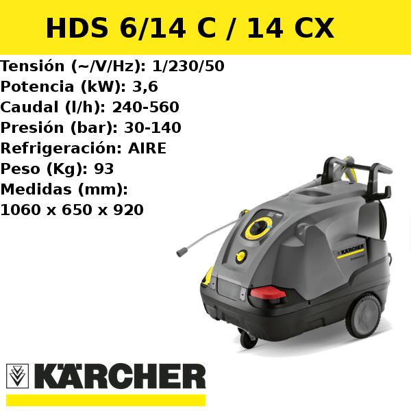 Hidrolimpiadora Karcher HDS 6/14 C