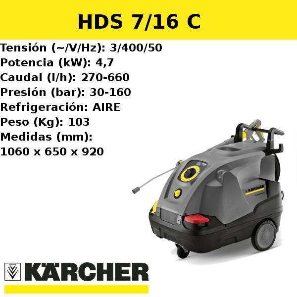 Hidrolimpiadora Karcher HDS 7/16 C