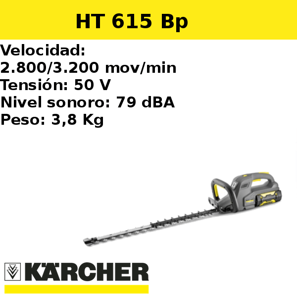 Cortasetos Karcher HT 615 Bp