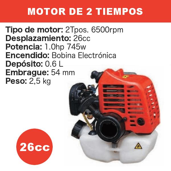 Motor 2 tiempos 26 cc