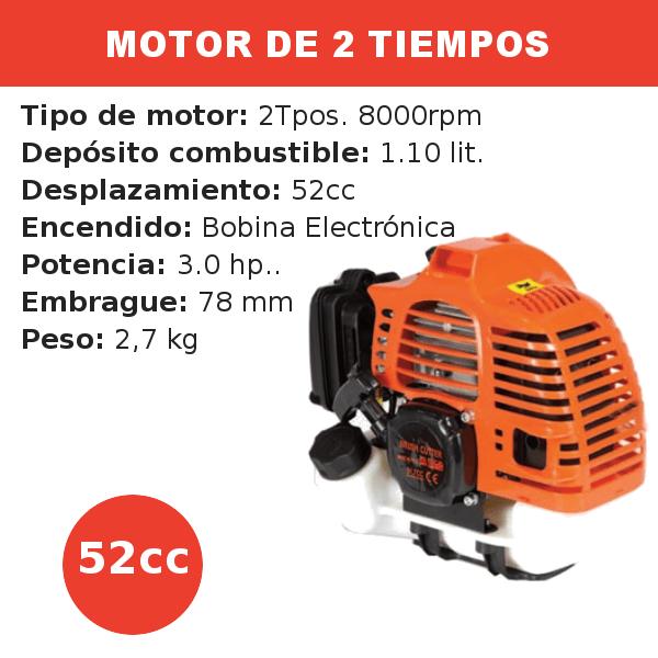 Motor 2 tiempos 52 cc