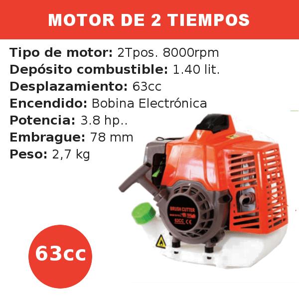 Motor 2 tiempos 63 cc