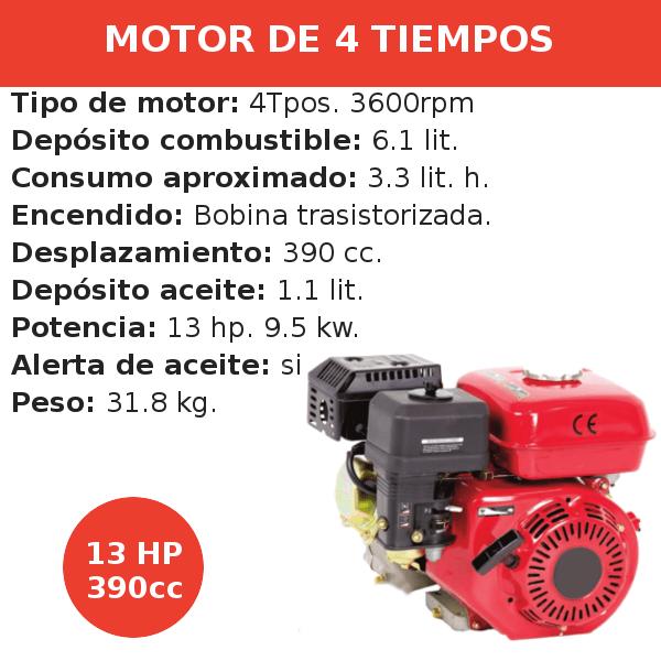 Motor 4 tiempos 390cc