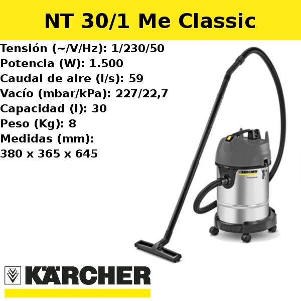 Aspirador Karcher NT 30/1 Me Classic