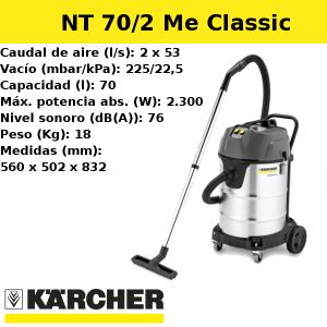 Aspirador Karcher NT 70/2 Me Classic