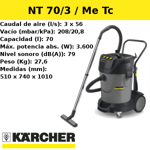 Aspirador Karcher NT 70/3