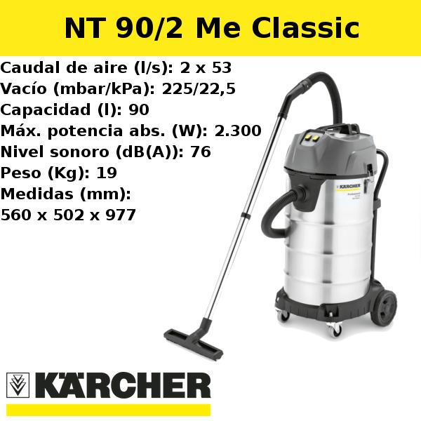 Aspirador Karcher NT 90/2 Me Classic