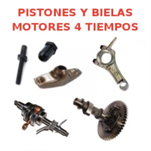 Pistones y Bielas Motores 4 tiempos