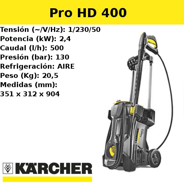 Hidrolimpiadora Karcher Pro HD 400