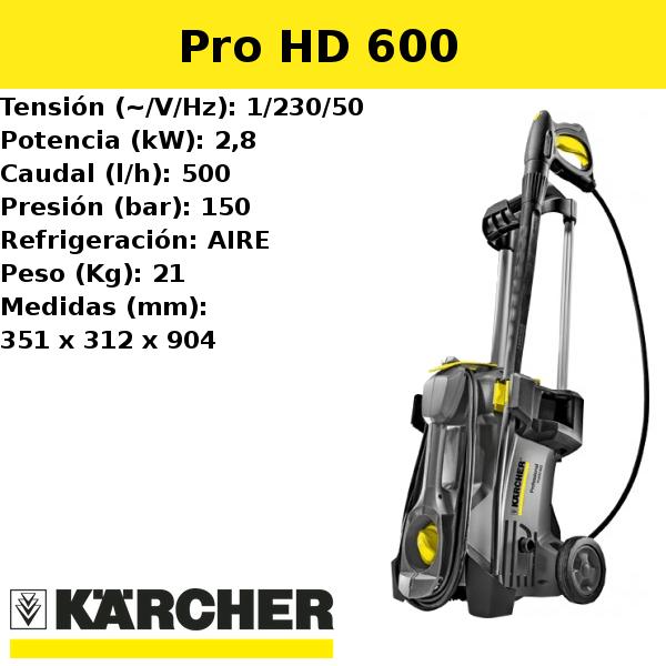 Hidrolimpiadora Karcher Pro HD 600