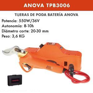 TIJERA DE PODA BATERÍA ANOVA - TPB3006