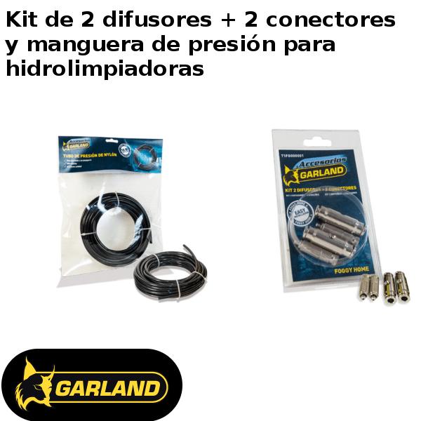 Kit de 2 difusores + 2 conectores y manguera de presión Garland