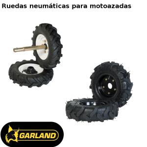 Ruedas neumáticas Garland para motoazadas