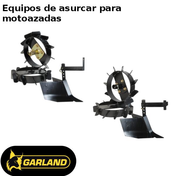 Equipos de asurcar Garland para motoazadas