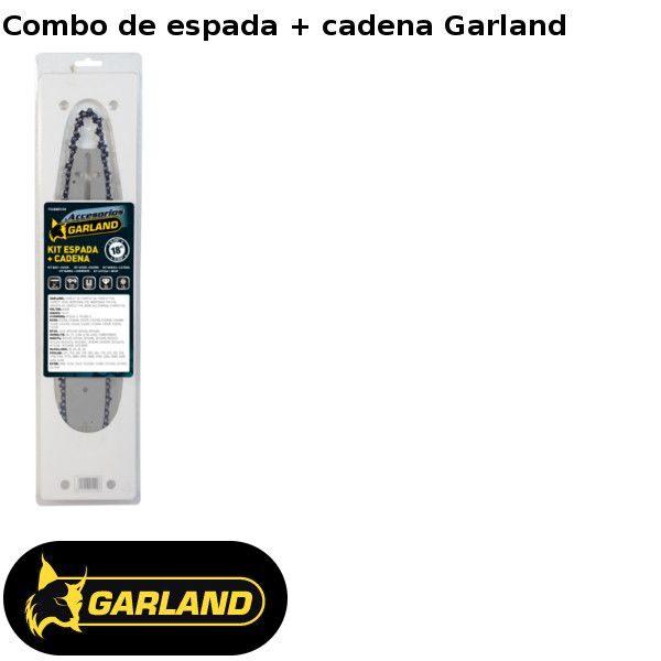 Combo de espada + cadena para motosierras Garland