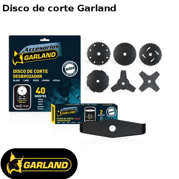 Disco de corte Garland para desbrozadoras
